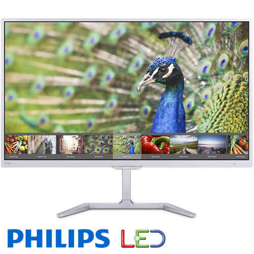 """מסך מחשב """"27 Philips LED PLS 276E7QDSW בצבע לבן"""