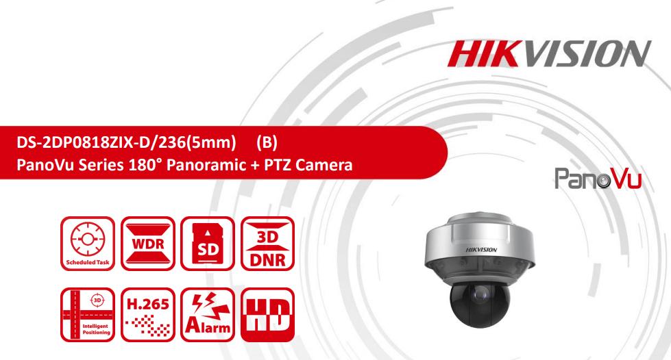 PanoVu Series 180° Panoramic + PTZ Camera - ZBM - זד  בי  אם מערכות אבטחה  ותקשורת