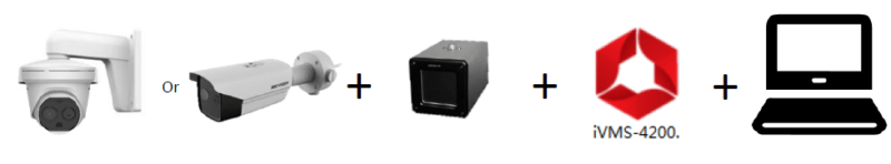 מצלמה תרמית בשילוב עם Black Body ותוכנה מותאמת למחשב