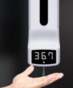 מד חום ללא מגע משולב דיספנסר אוטומטי לחיטוי ידיים